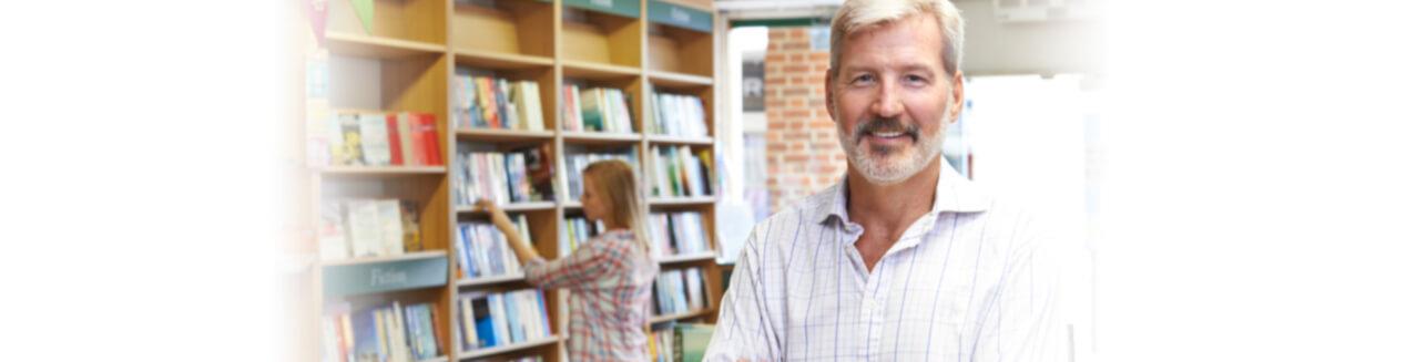 Smiling Book Shop Owner